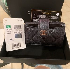 19S Chanel Iridescent multi card
